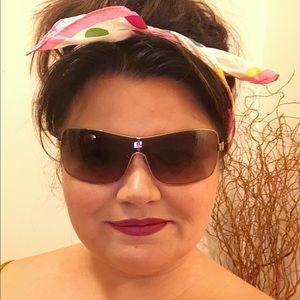 COACH Cort Gold Tortoise Shield Sunglasses